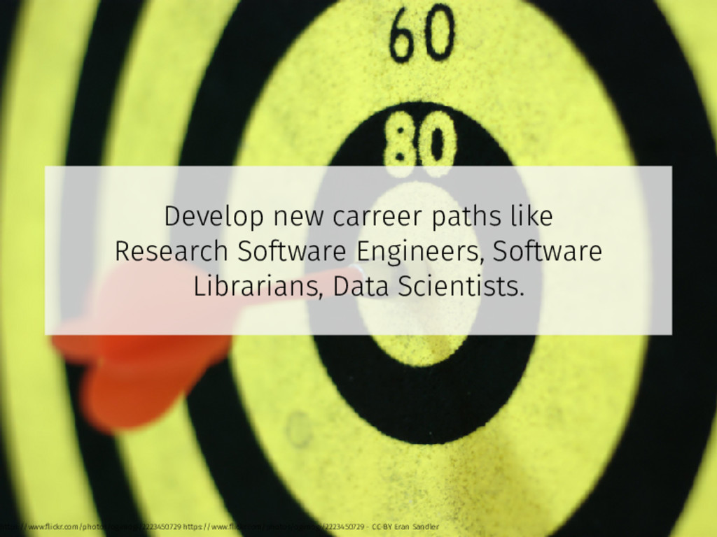 Develop new carreer paths like Research Softwar...