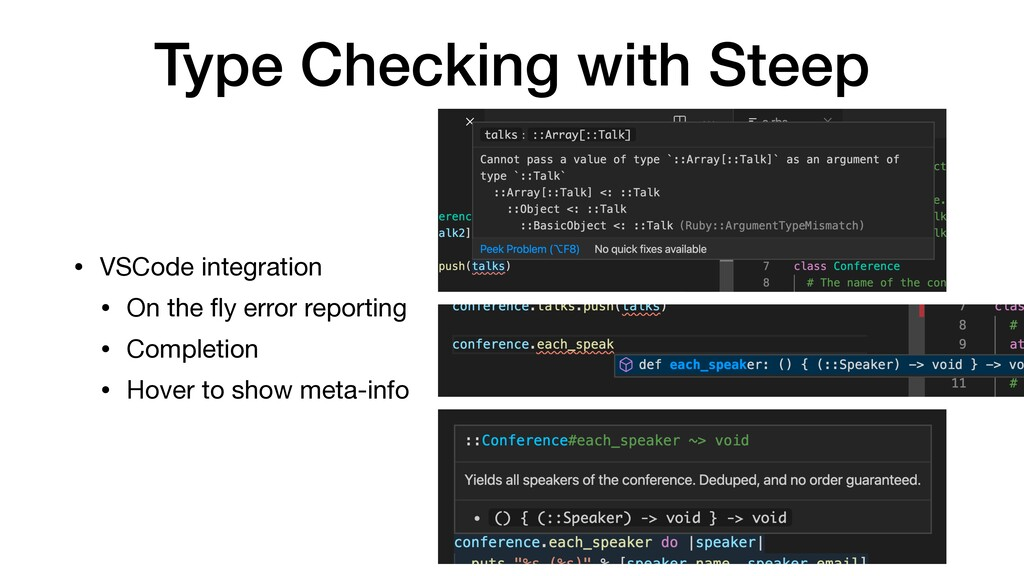 Type Checking with Steep • VSCode integration  ...