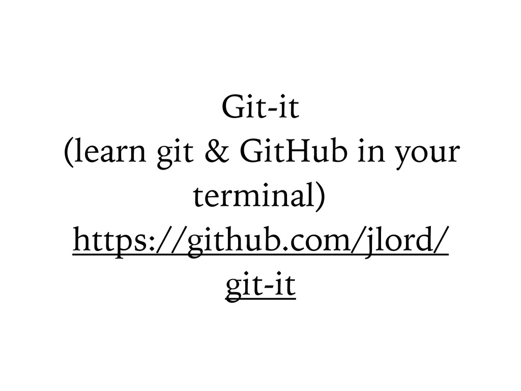 Git-it (learn git & GitHub in your terminal) ht...