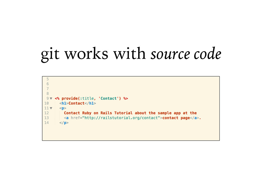 git works with source code
