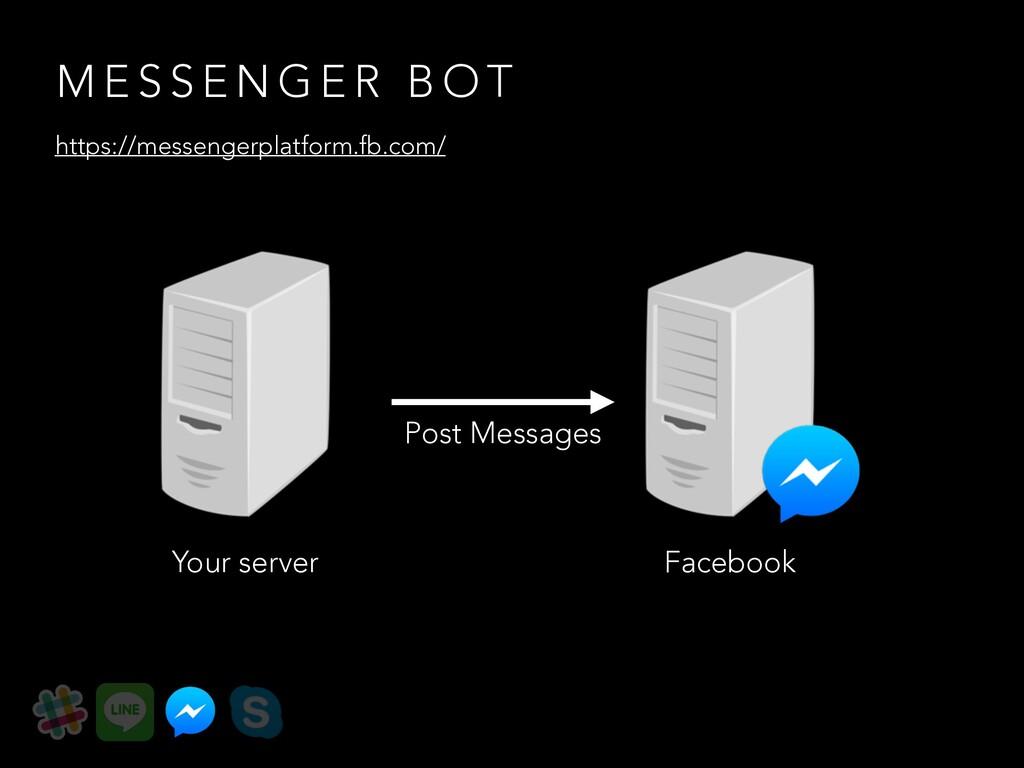 Your server Post Messages M E S S E N G E R B O...