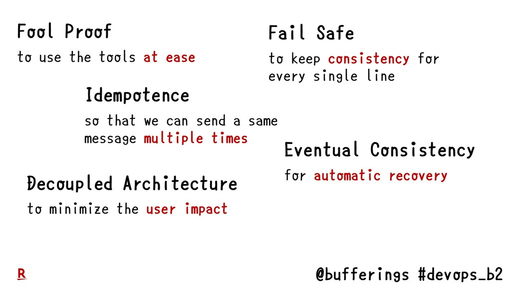 @bufferings #devops_b2 Fool Proof to use the to...