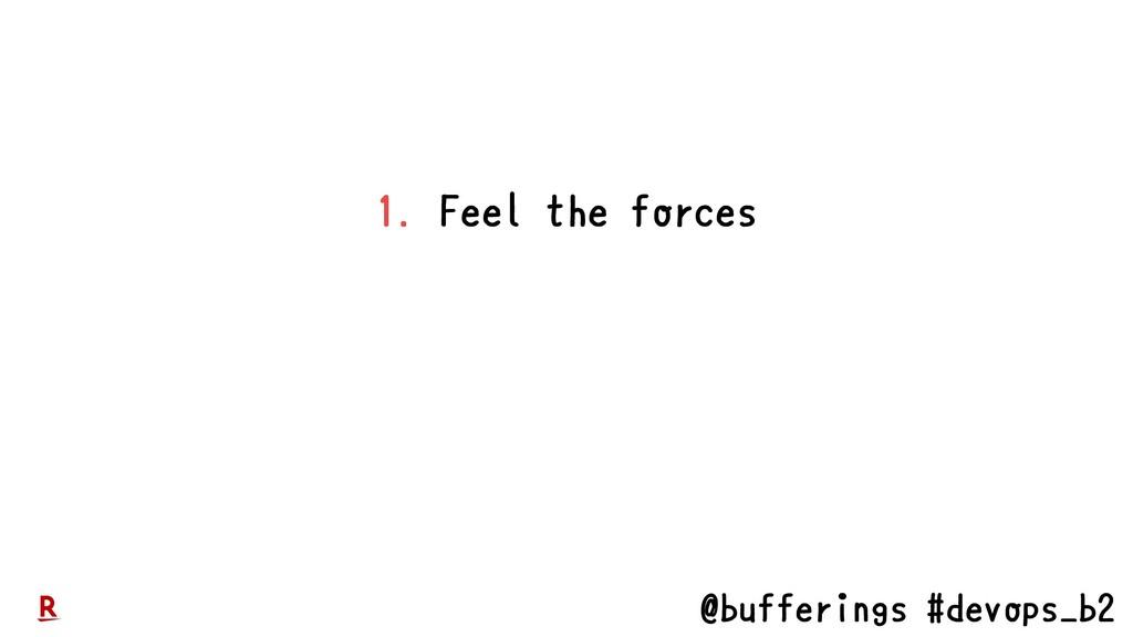 @bufferings #devops_b2 1. Feel the forces