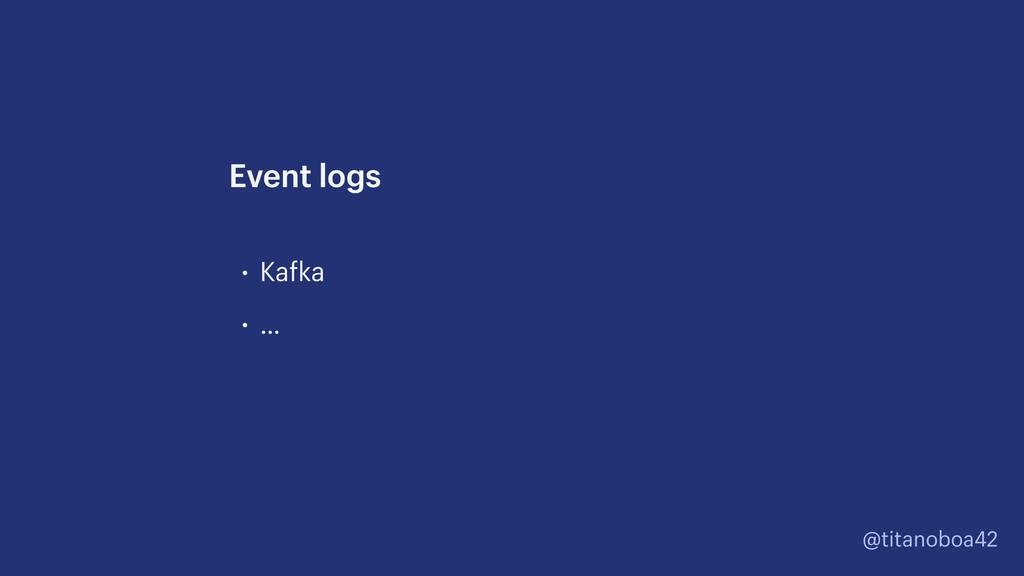 @titanoboa42 • Kafka • … Event logs