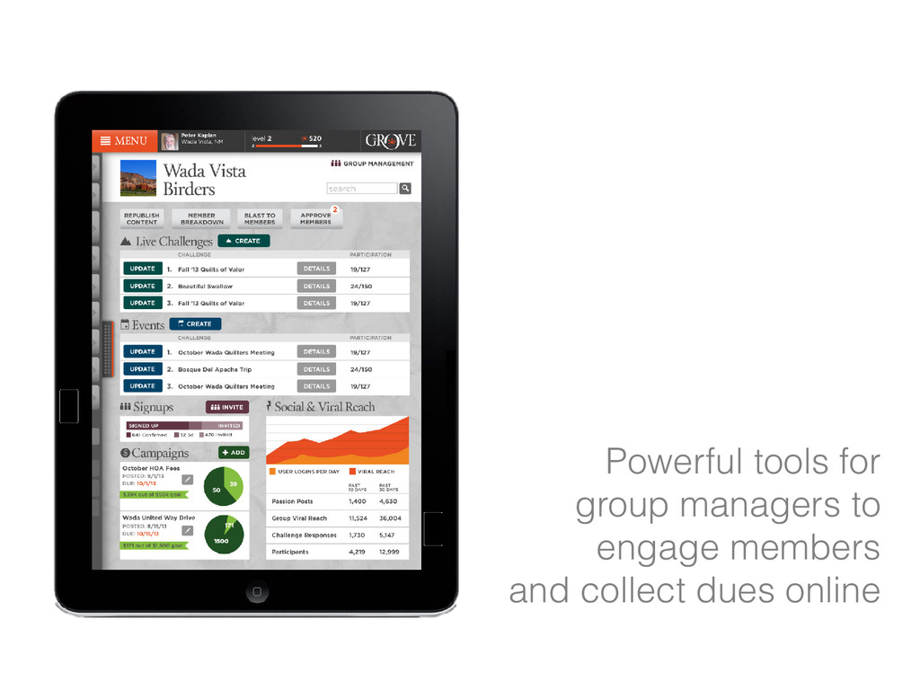 Powerful tools for group managers to engage mem...