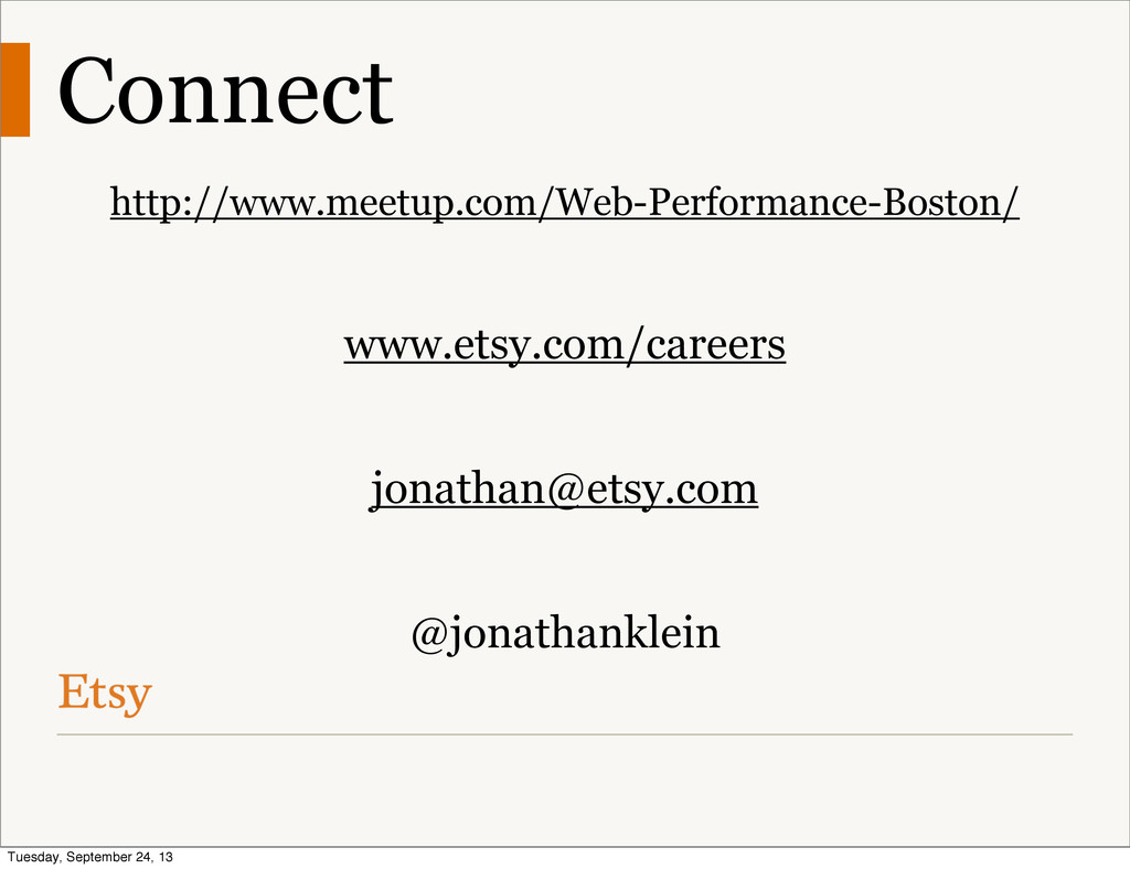 Connect http://www.meetup.com/Web-Performance-B...