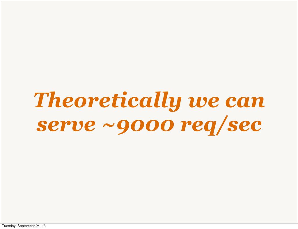 Theoretically we can serve ~9000 req/sec Tuesda...