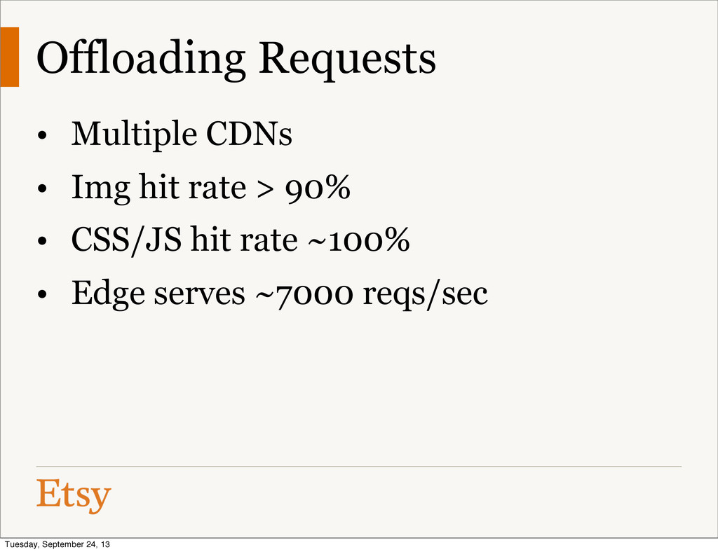 Offloading Requests • Multiple CDNs • Img hit r...
