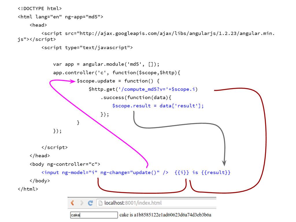 "<!DOCTYPE html> <html lang=""en"" ng-app=""md5""> <..."