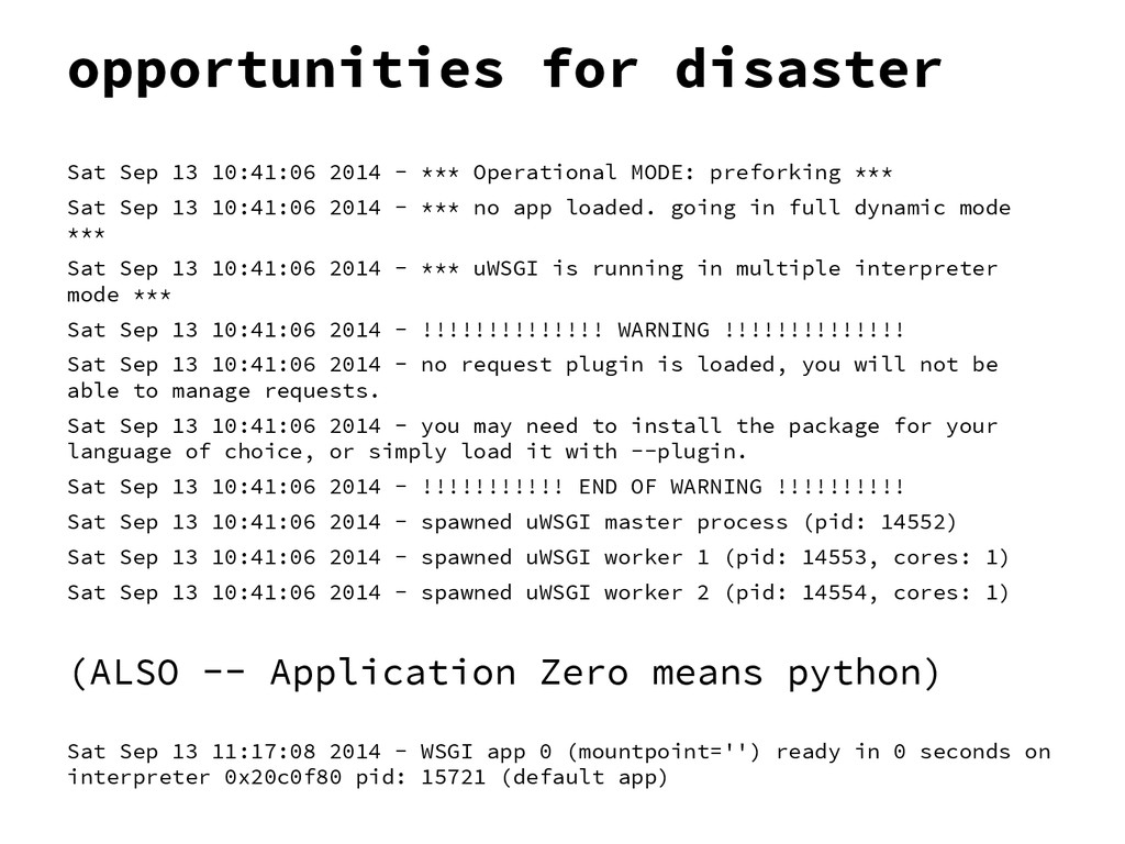 opportunities for disaster Sat Sep 13 10:41:06 ...