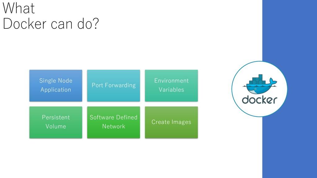 What Docker can do? Single Node Application Por...