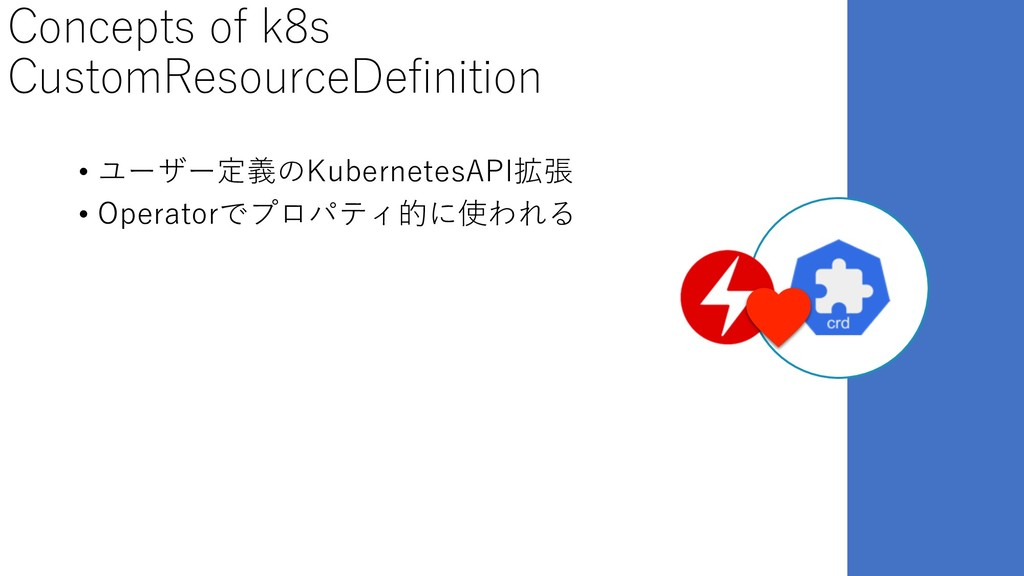 Concepts of k8s CustomResourceDefinition • ユーザー...