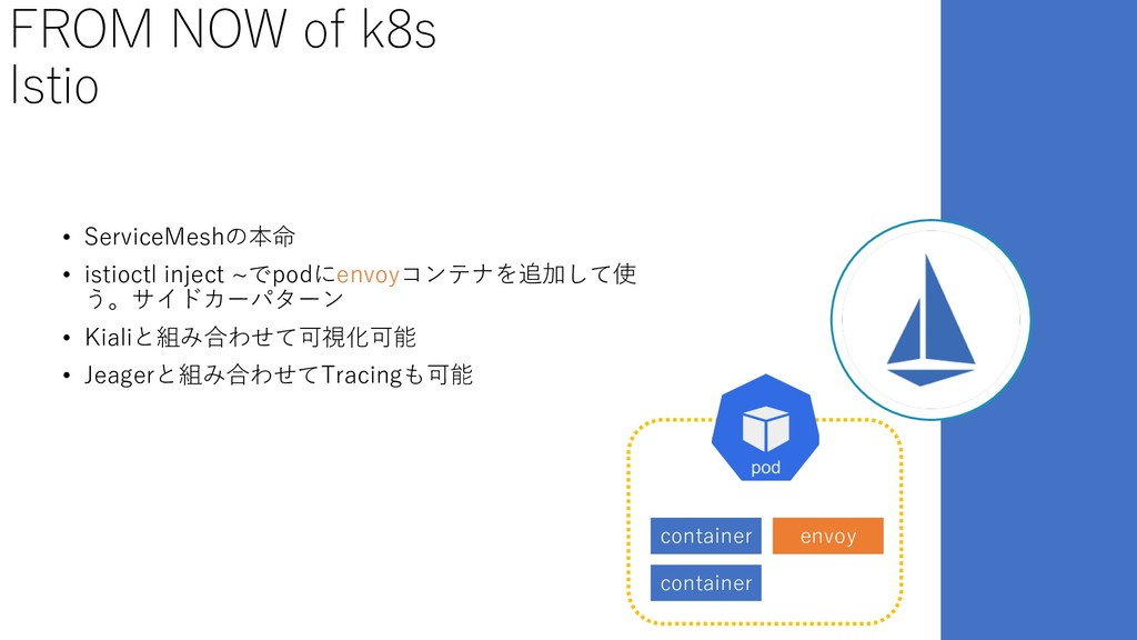 FROM NOW of k8s Istio • ServiceMeshの本命 • istioc...