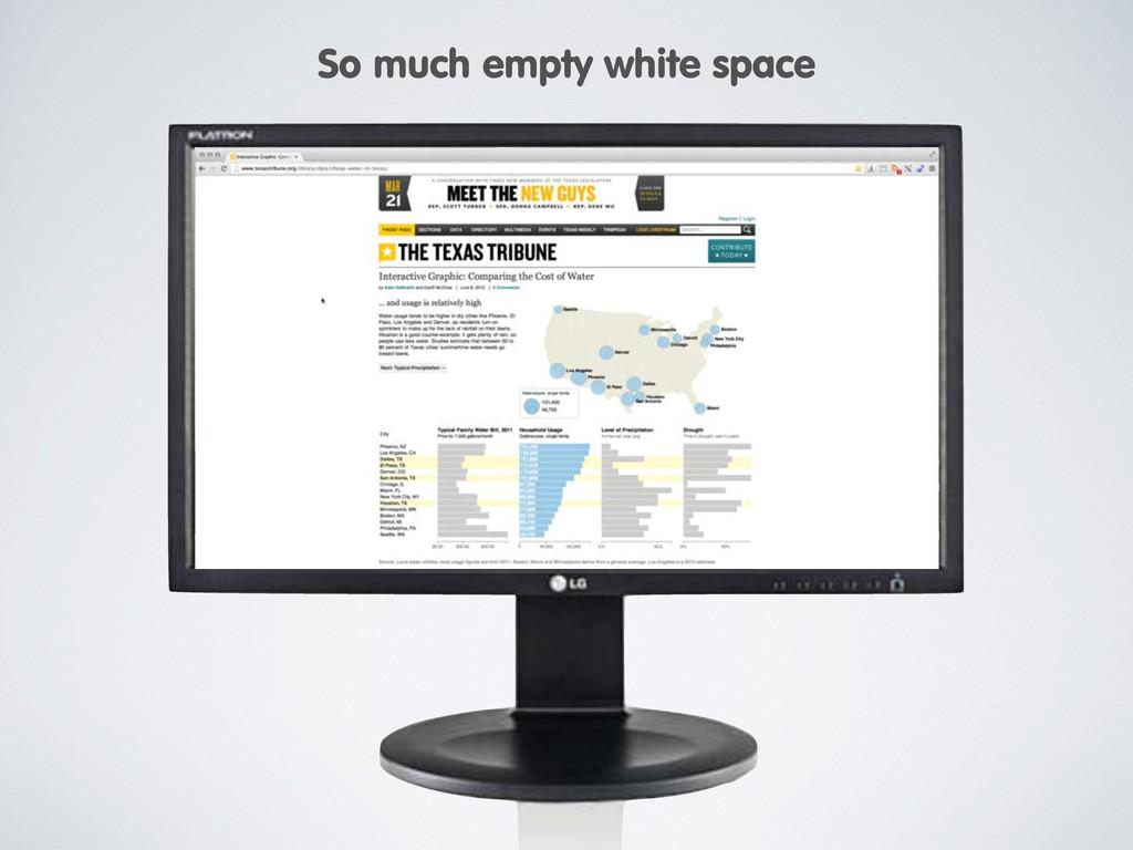 So much empty white space