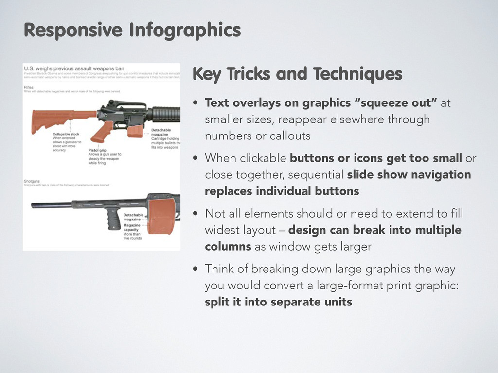 """• Text overlays on graphics """"squeeze out"""" at sm..."""