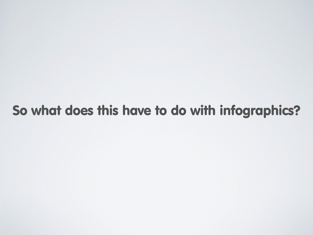 So what does this have to do with infographics?