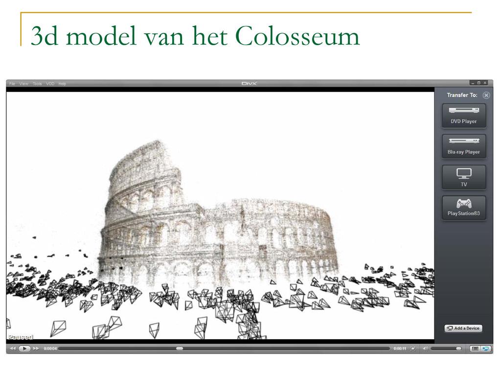 3d model van het Colosseum