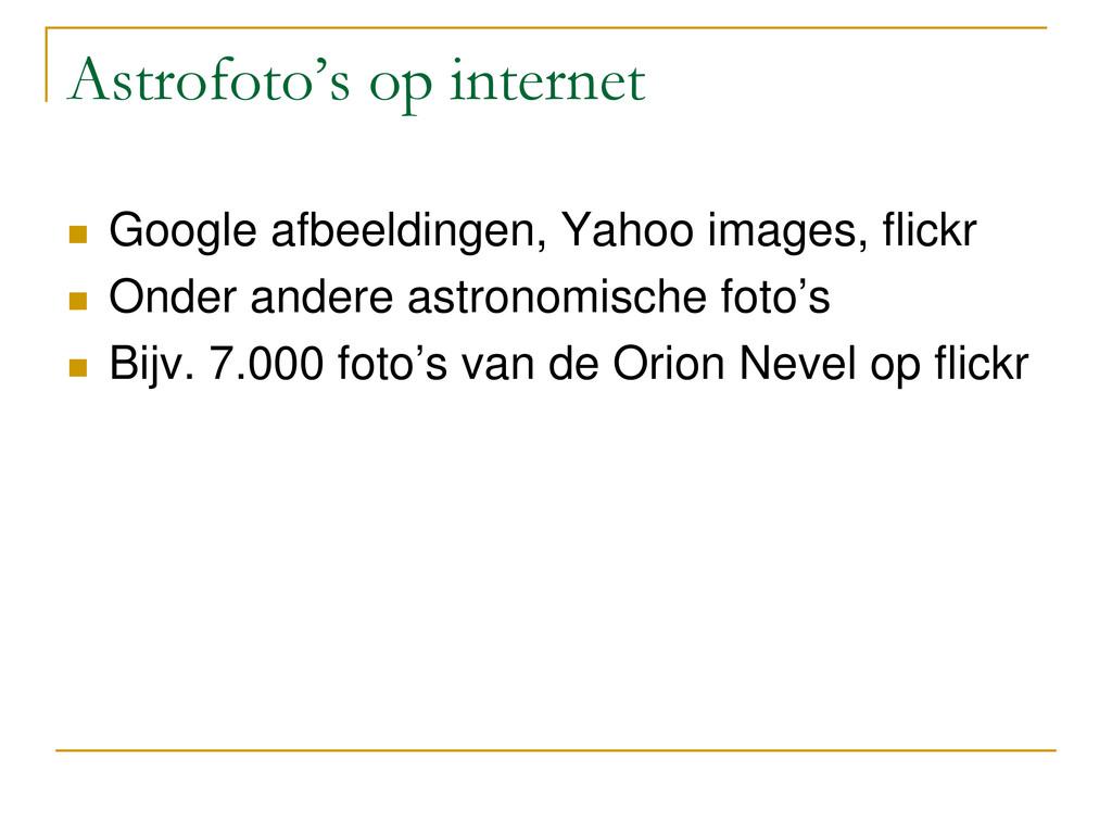 Astrofoto's op internet  Google afbeeldingen, ...