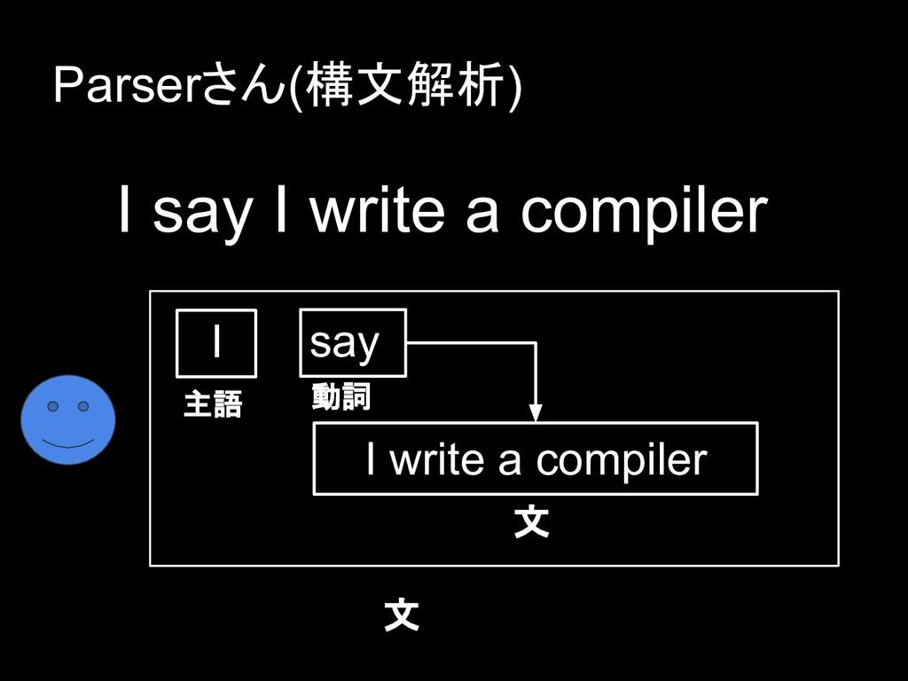 I say I write a compiler say I write a compiler...