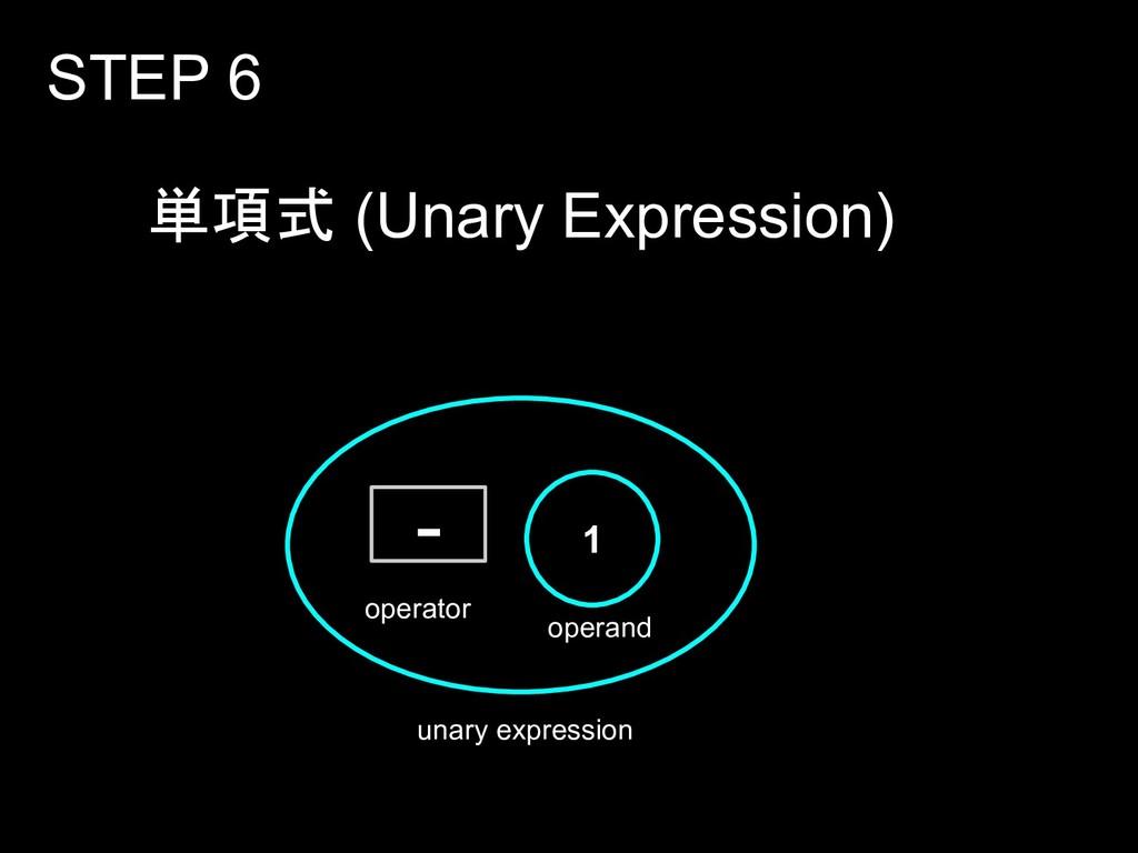 単項式 (Unary Expression) STEP 6 1 - operand opera...