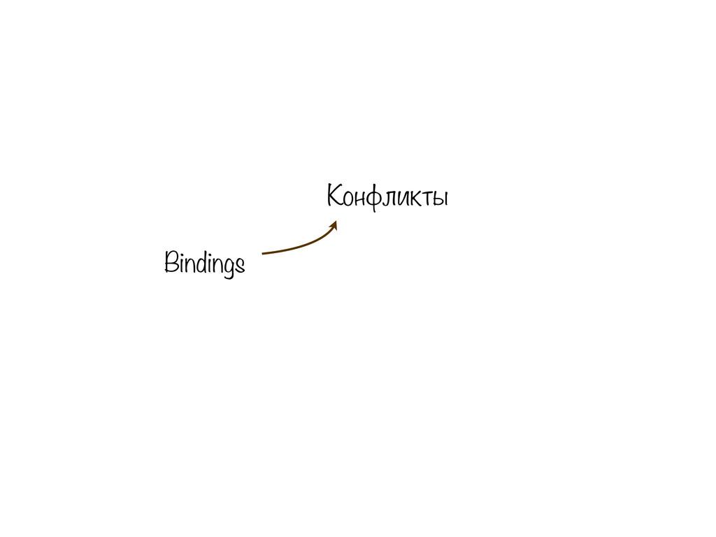 Bindings Конфликты