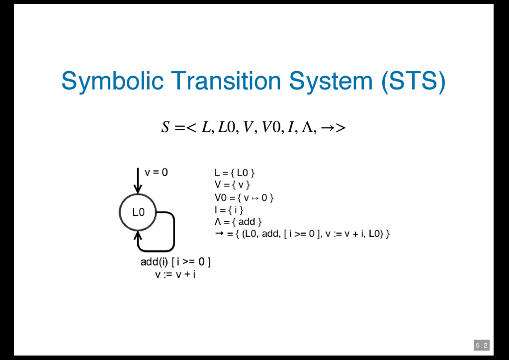 5 . 2 Symbolic Transition System (STS)