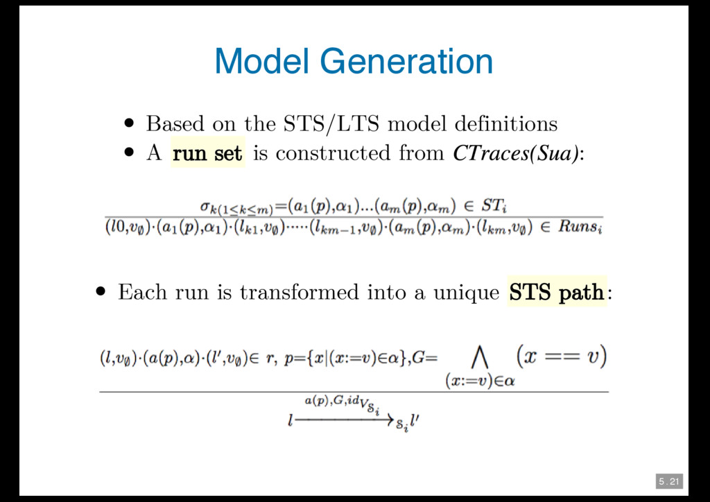 5 . 21 Model Generation Based on the STS/LTS mo...