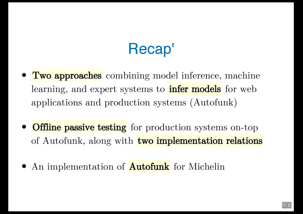 7 . 2 Recap' Two approaches combining model inf...