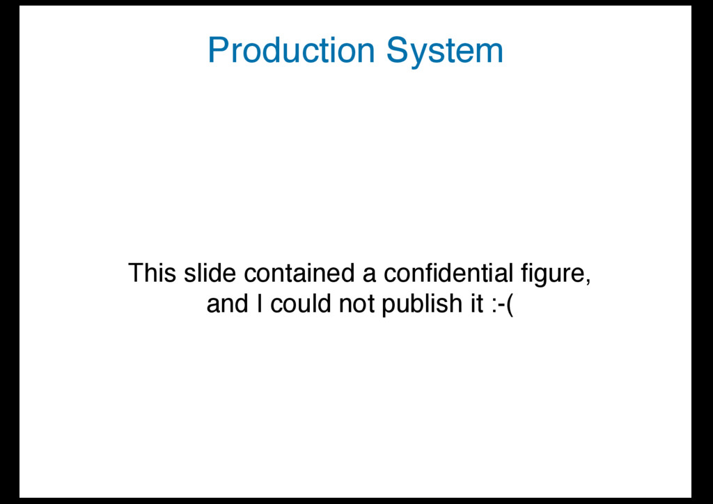 Production System This slide contained a confide...