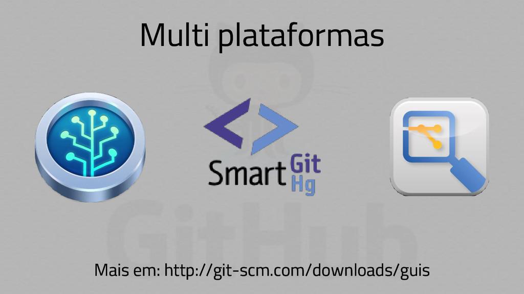Multi plataformas Mais em: http://git-scm.com/d...