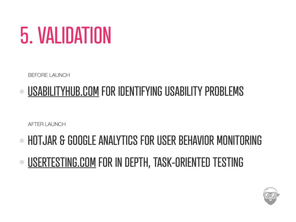 5. VALIDATION USABILITYHUB.COM FOR IDENTIFYING ...