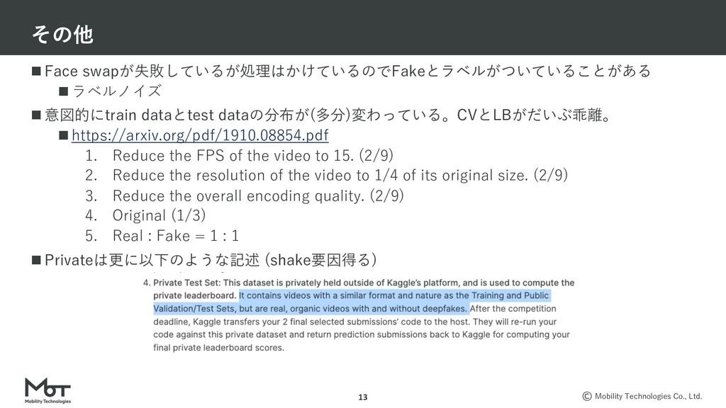 Mobility Technologies Co., Ltd. n Face swapが失敗し...