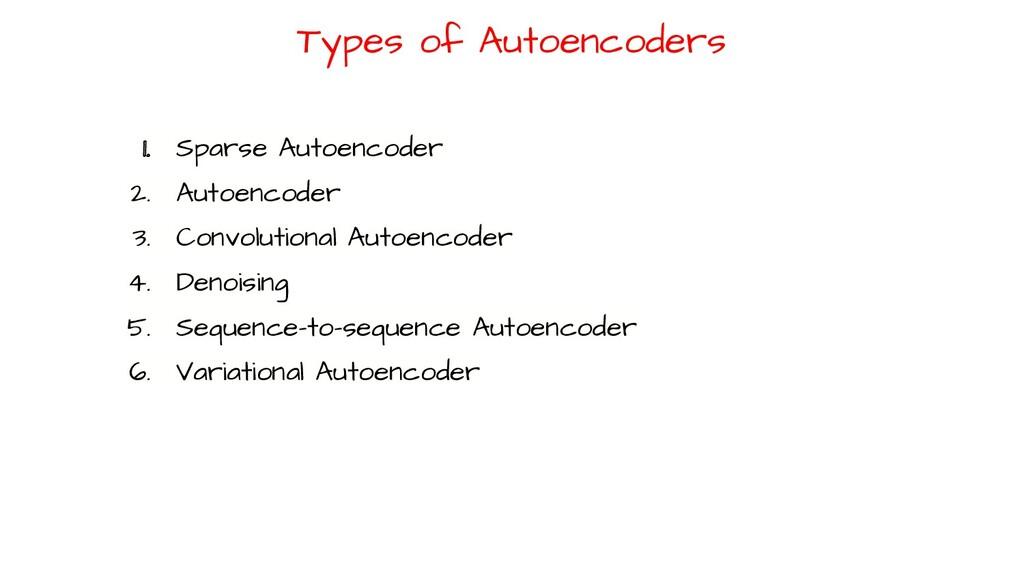 1. Sparse Autoencoder 2. Autoencoder 3. Convolu...