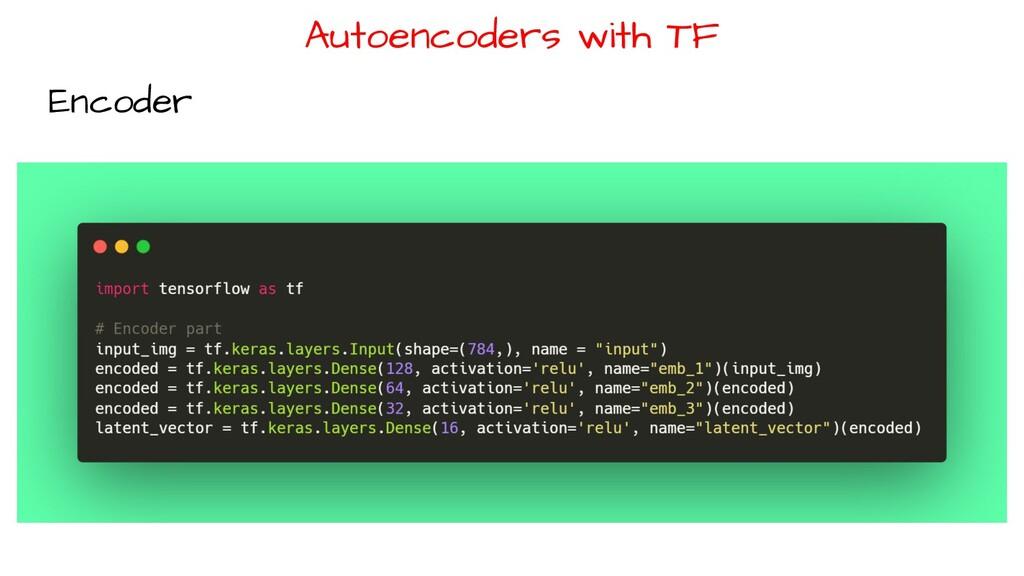 Autoencoders with TF Encoder