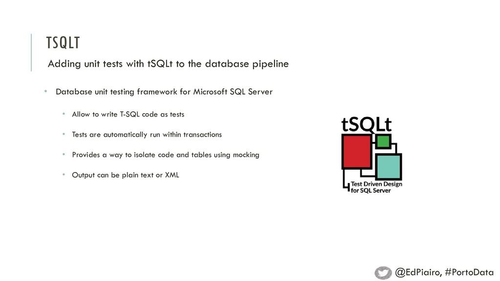 TSQLT Adding unit tests with tSQLt to the datab...