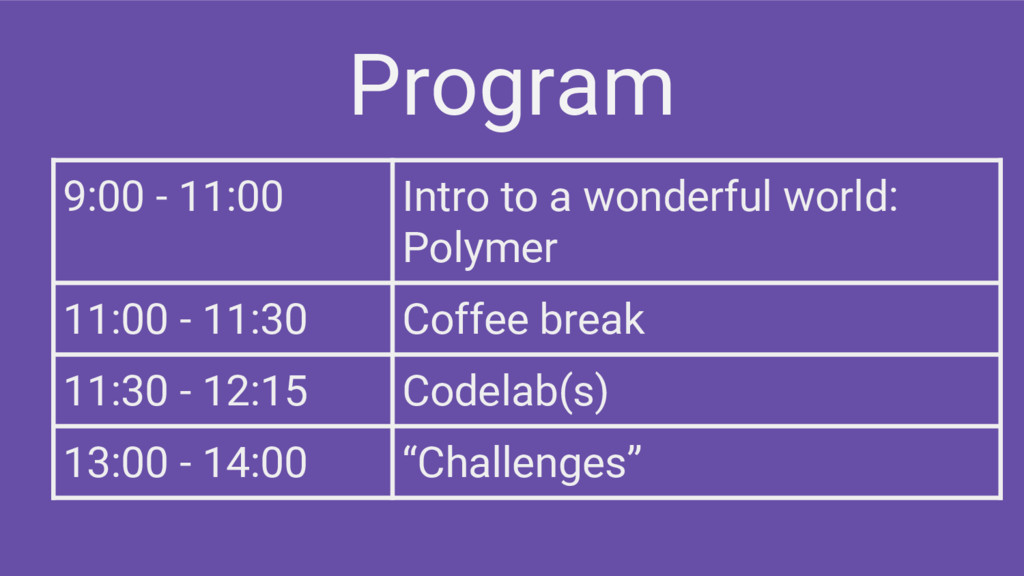9:00 - 11:00 Intro to a wonderful world: Polyme...