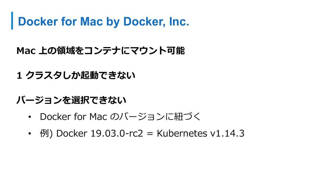 Docker for Mac by Docker, Inc. Mac 上の領域をコンテナにマウ...