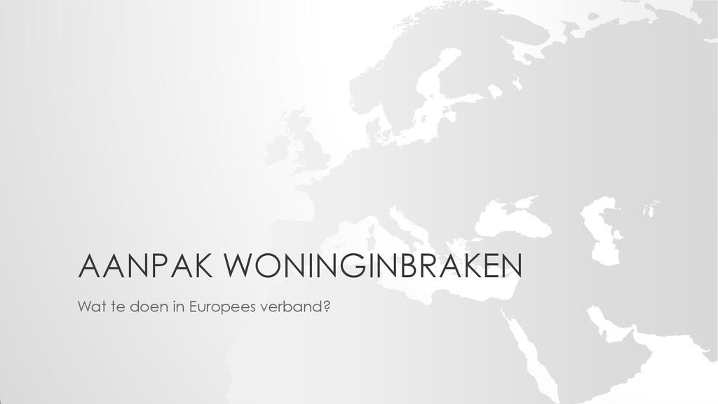AANPAK WONINGINBRAKEN Wat te doen in Europees v...