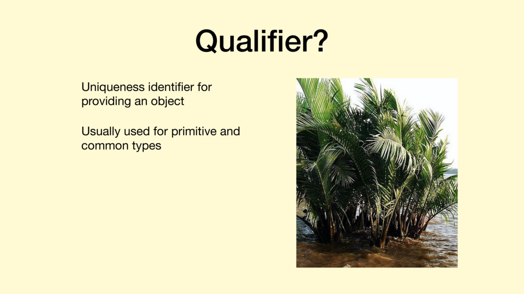 Qualifier? Uniqueness identifier for providing an...
