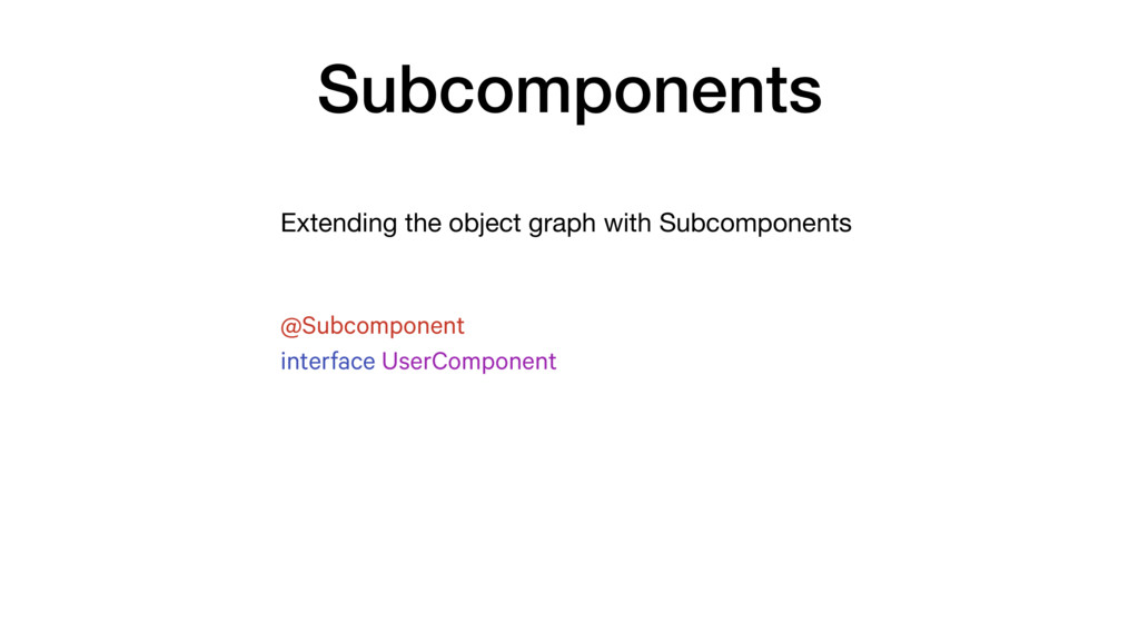 Extending the object graph with Subcomponents S...