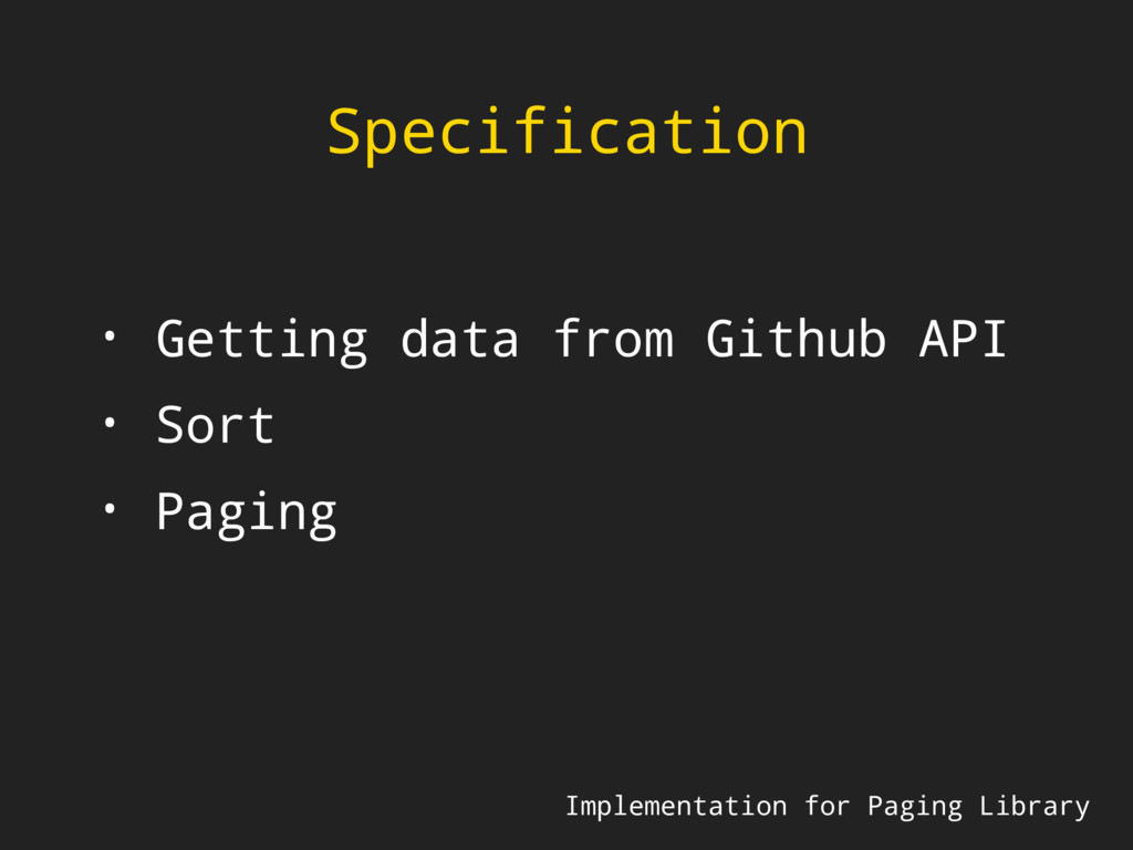 Specification Implementation for Paging Library...