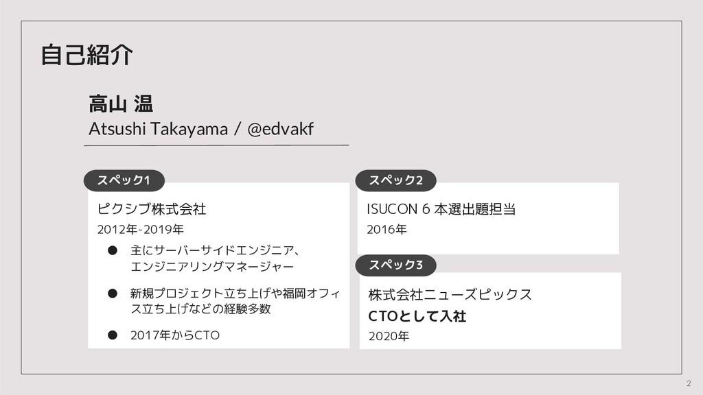 """5 自己紹介 高山 温 !""""#$#%&'()*)+),) / -./0)*1 スペック1 ピク..."""
