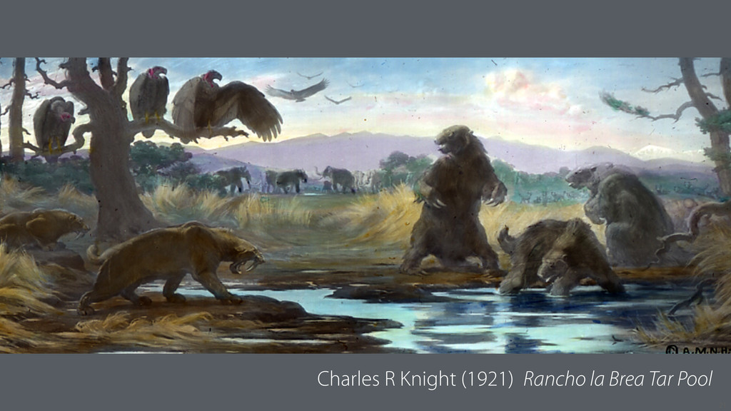 21 Charles R Knight (1921) Rancho la Brea Tar P...