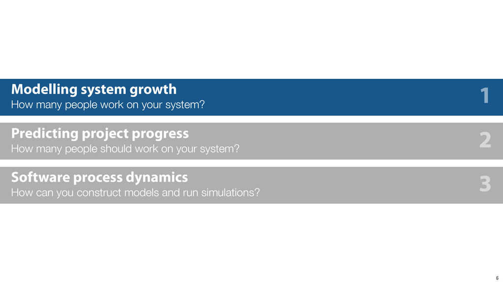 6 Modelling system growth How many people work ...