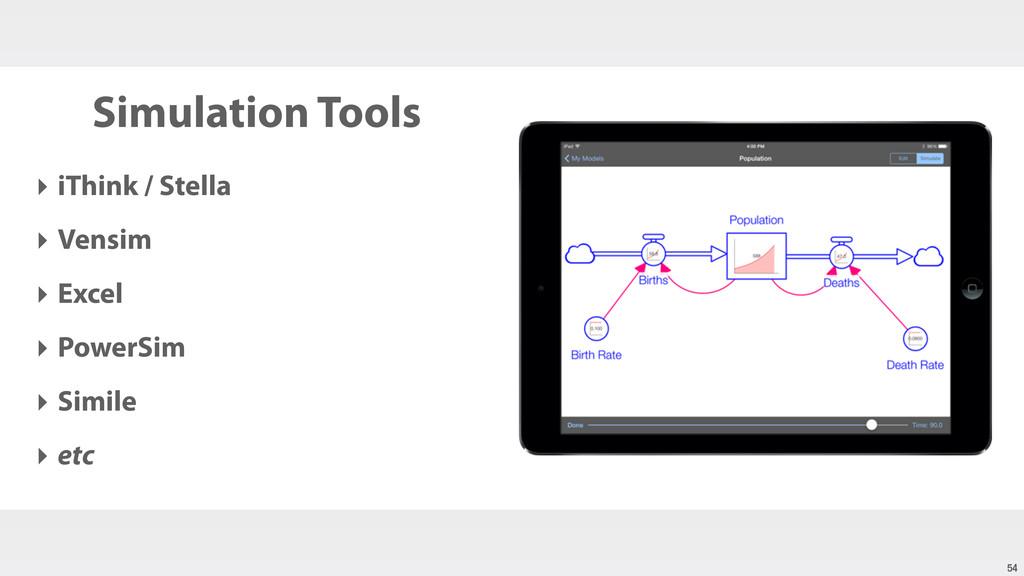 Simulation Tools ‣ iThink / Stella ‣ Vensim ‣ E...