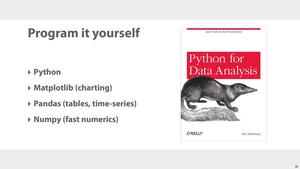 Program it yourself ‣ Python ‣ Matplotlib (char...