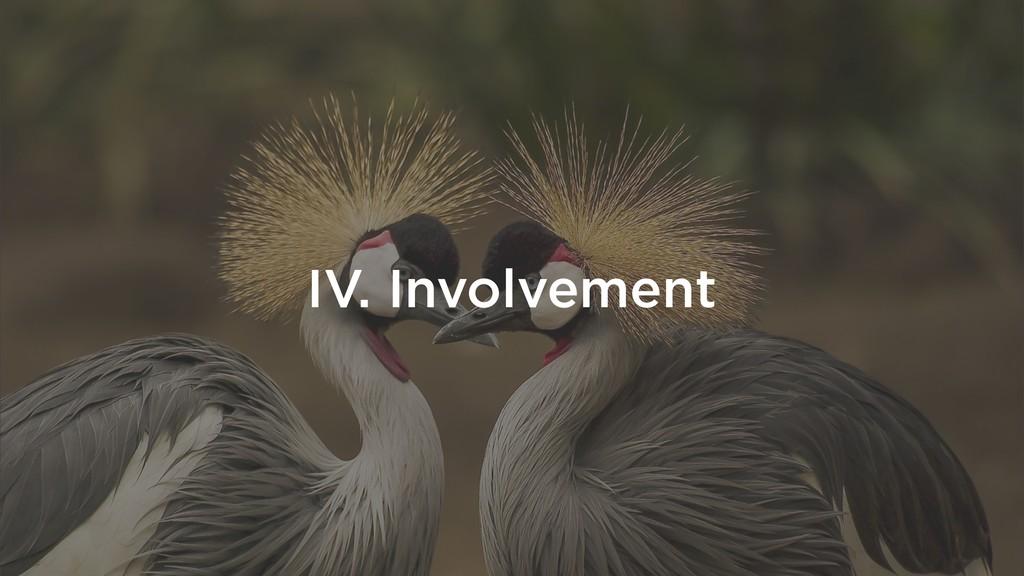 IV. Involvement