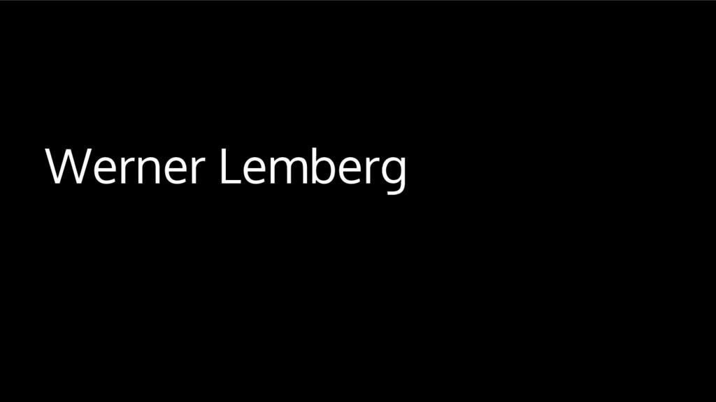 Werner Lemberg