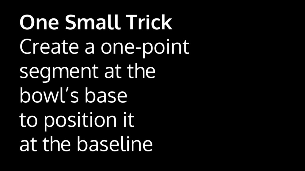One Small Trick Create a one-point segment at t...