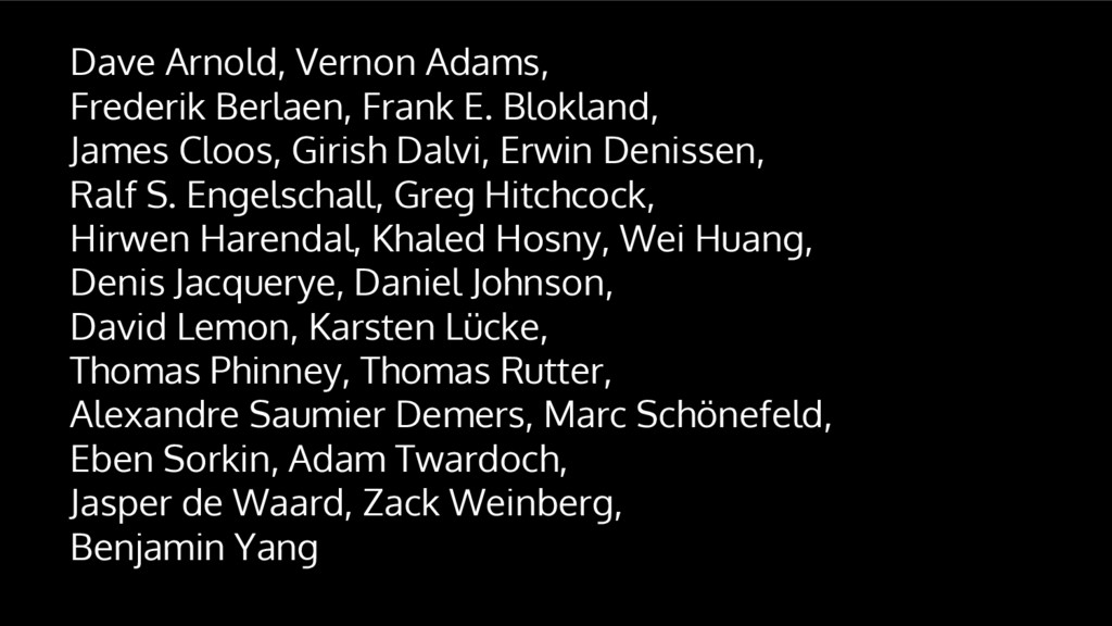 Dave Arnold, Vernon Adams, Frederik Berlaen, Fr...